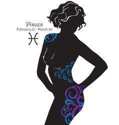 Silhouette of a girl interpretation zodiac sign vector image vector image