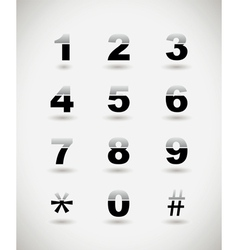 Telephone numbers vector