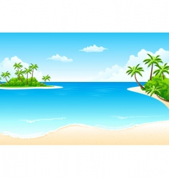 tropical landscape vector image vector image