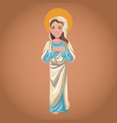Virgin mary spiritual religious christian vector