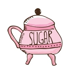 Sugar pot isolated icon vector