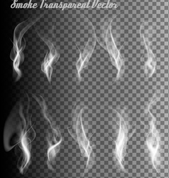 Completely transparent set of smoke vector image