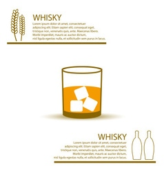 Whisky glass simple color infographics theme eps10 vector