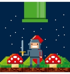 video game pixel design vector image