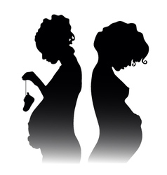 Pregnant girls vector