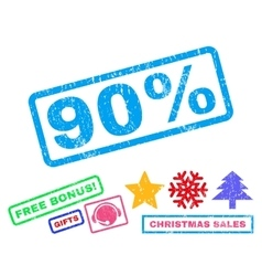90 percent rubber stamp vector