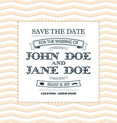 Wedding invitation yellow vector image