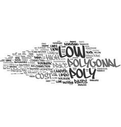 Low word cloud concept vector