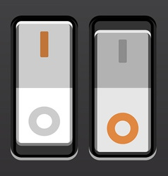 White toggle power switches vector