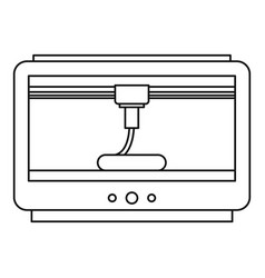 3d printer icon outline style vector image vector image