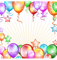 Festive background balloons vector