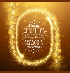 Christmas stars frame vector