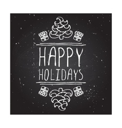 Happy holidays - typographic element vector