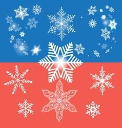 Winter graphic background with different snow vector