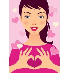 Love girl vector