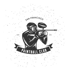 Paintball club emblem vintage vector