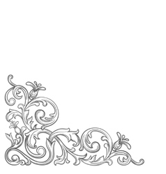 Baroque vintage corner vector image