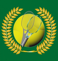 tennis and golden wreath vector image
