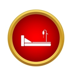 Hospital bed icon simple style vector