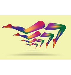 Abstract leg art vector image vector image