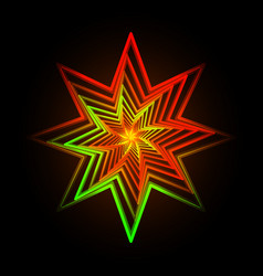 Abstract triangle neon star vector