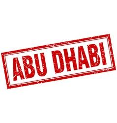 Abu dhabi red square grunge stamp on white vector