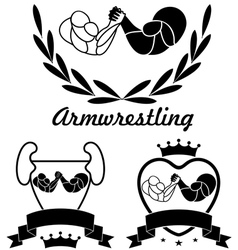 Arm-wrestling vector image vector image