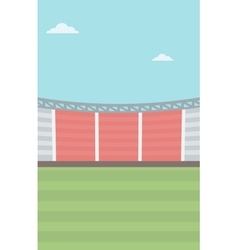 Background of football stadium vector