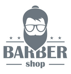 barber shop logo simple style vector image