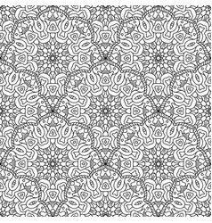 Black and white seamless oriental pattern vector