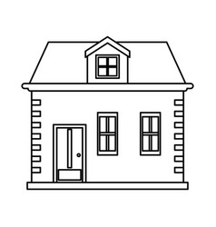 Brick family house icon image vector