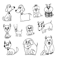 doodle funny dog vector image