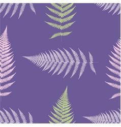 Fern seamless pattern ultra violet vector