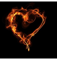 fire heart vector image