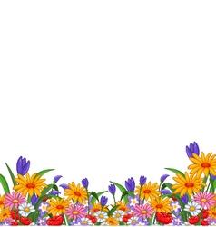 Flowers garden vector