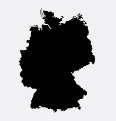 germany island map silhouette vector image