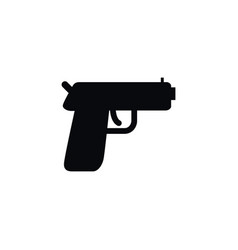 isolated handgun icon pistol element can vector image vector image