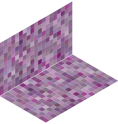 Isometric tile pattern mixed purple backdrop vector