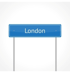 London traffic sign vector image vector image