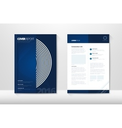 Modern Cover Annual Report Brochure - business vector image vector image