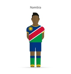 Namibia football player soccer uniform vector