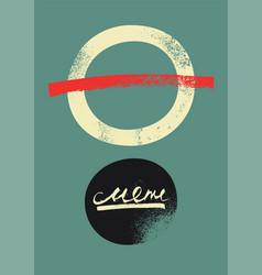 Restaurant menu typographic vintage grunge design vector