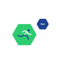 Running logo sport event icon vector
