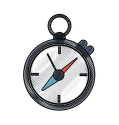 training sports stopwatch vector image