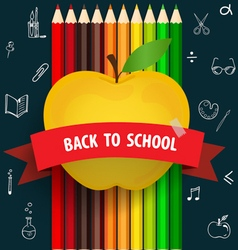 Welcome back to school with Apple and Colour vector image vector image