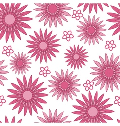 Pink flower background vector