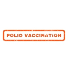 Polio vaccination rubber stamp vector