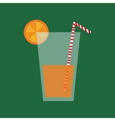 Delicious orange juice vector