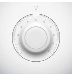 White technology volume button with scale vector