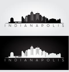 Indianapolis usa skyline and landmarks silhouette vector
